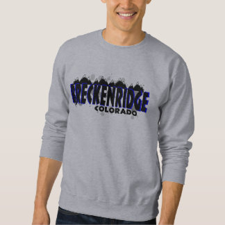 Neon blue grunge Breckenridge Colorado Sweatshirt
