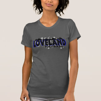Neon blue grunge Loveland Colorado T-Shirt