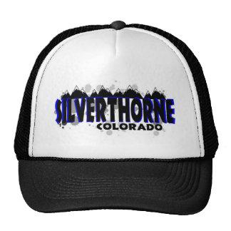 Neon blue grunge Silverthorne Colorado Trucker Hat