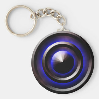 Neon-Blue Keychain