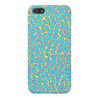 Neon Blue Leopard Print iPhone 5 Cases