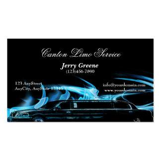 Neon Blue Limosine Business Card