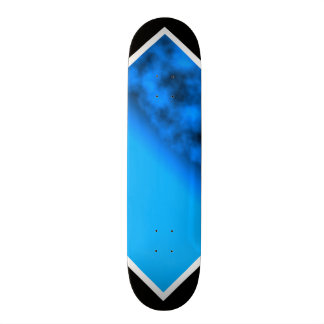 Neon Blue Night Sky With Black Customizable Deck