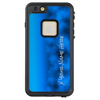 Neon Blue Night Sky With Black Insert Name LifeProof FRĒ iPhone 6/6s Plus Case