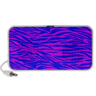 Neon blue on pink Zebra Print iPhone Speaker
