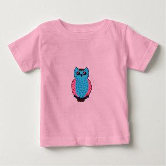 Neon Blue Owl Baby T-Shirt