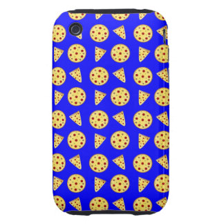 Neon blue pizza pattern tough iPhone 3 covers
