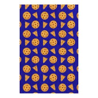 Neon blue pizza pattern cork paper