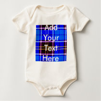 Neon Blue Plaid, Punk's Not Dead Baby Bodysuit