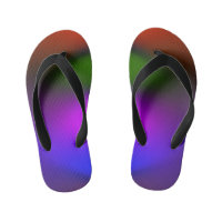 Neon Blue, Purple, Green & Orange Kids Flip Flops