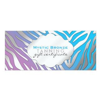 Neon Blue & Purple Zebra Print Gift Certificates Card