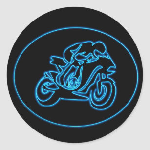 Motorcycle Silhouette Stickers Sticker Designs Zazzle