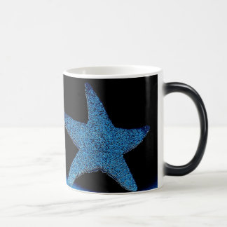 Neon Blue Sea Star Magic Mug