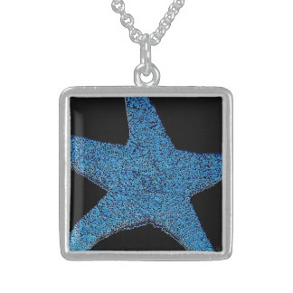Neon Blue Sea Star Personalized Necklace