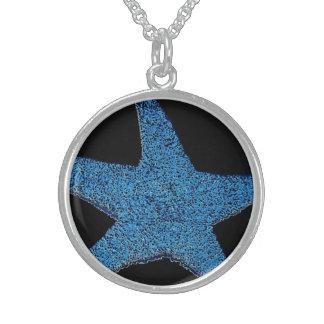 Neon Blue Sea Star Pendant
