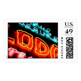 neon blue spruce lodge postage stamps