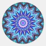 Neon Blue Starburst Sticker