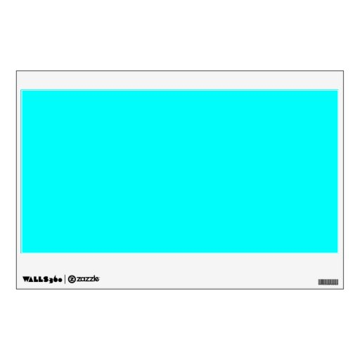 Bright Coloured Wall Lights : Neon Blue Teal Light Bright Fashion Color Trend Wall Decal Zazzle
