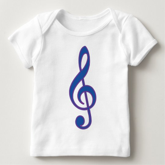 Neon Blue Treble Clef Baby T-Shirt