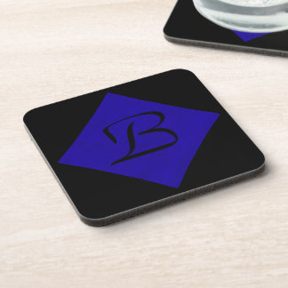 Neon Blue Velvet Personalized Home Casino Coasters