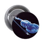 Neon Blue Violin Button
