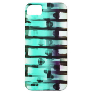Neon Blue White Abstract Art Brick Wall iPhone 5 iPhone SE/5/5s Case