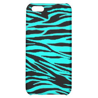 Neon Blue Zebra Print iPhone 5C Cover