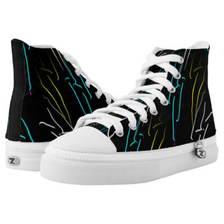 Neon Bolts High-Top Sneakers