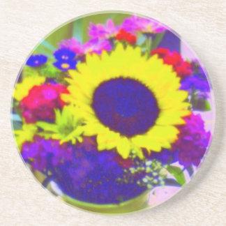 Neon Bouquet Coaster