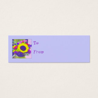 Neon Bouquet Gift Tag