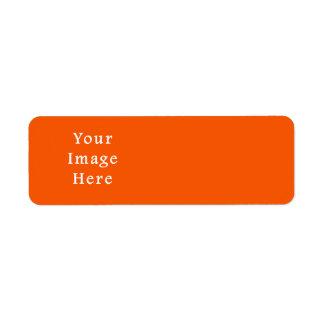 Neon Colors Shipping Address & Return Address Labels #1: neon bright orange color trend blank template label r83d80f2eb2fe4244b1e45ea02f73cc02 v113i 8byvr 324