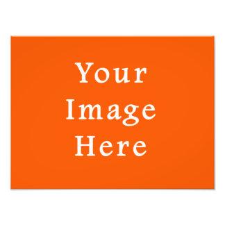 Neon Bright Orange Color Trend Blank Template Photographic Print