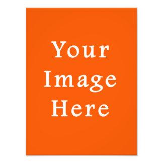 Neon Bright Orange Color Trend Blank Template Art Photo