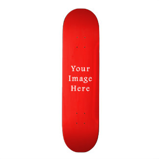 Neon Bright Red Color Trend Blank Template Skateboard