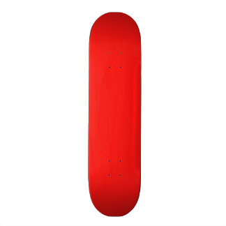 Neon Bright Red Color Trend Blank Template Custom Skateboard