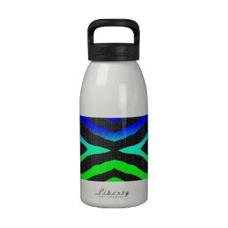 Neon Bright Zebra Pattern Reusable Water Bottle