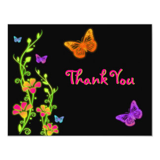 Neon Brights Bat Mitzvah Thank You Card