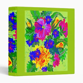 neon brite floral arrangement binder