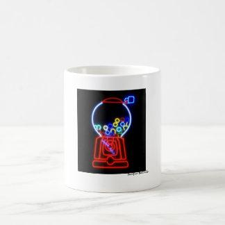 Neon Bubble Gum Machine Coffee Mug
