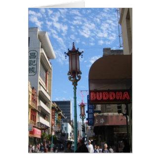 Neon Buddha San Francisco Note or Greeting Card