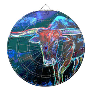 """Neon Bull""""s Eye Dart Board"""