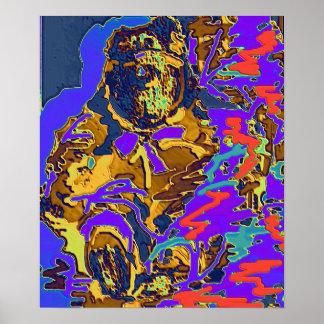 Neon Butterbear Poster