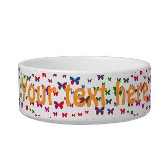 Neon Butterflies Bowl