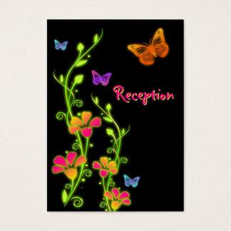 Neon Butterflies & Flowers Enclosure Card