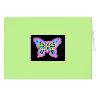 Neon Butterfly Card
