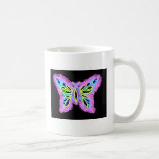 Neon Butterfly Coffee Mug