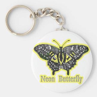 Neon Butterfly Keychain