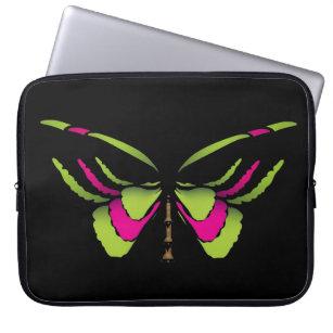Neon Butterfly Laptop Sleeve