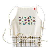 Neon Butterfly Pattern Zazzle HEART Apron
