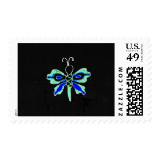 Neon Butterfly Postage